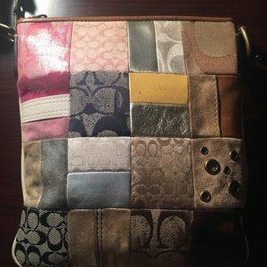Authentic patchwork Coach bag
